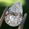 2.61ct Antique Pear Cut Diamond GIA I SI1 7