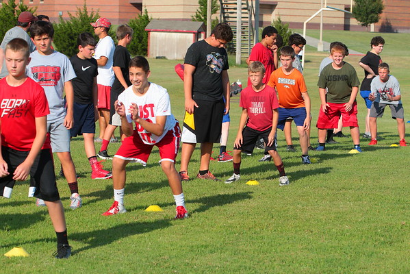 MIDDLE SCHOOL FOOTBALL CAMP 072716