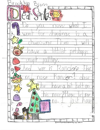 Letters to Santa, Mrs. Armstrong's first grade, 12/13/2017