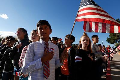 Veterans Day Ceremony at Zach White Elementary