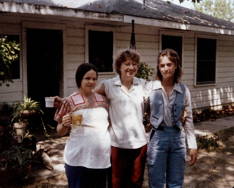 Cherry, Maria and Susan Smock Birchfield 2132 Pech Rd in Houston 1978