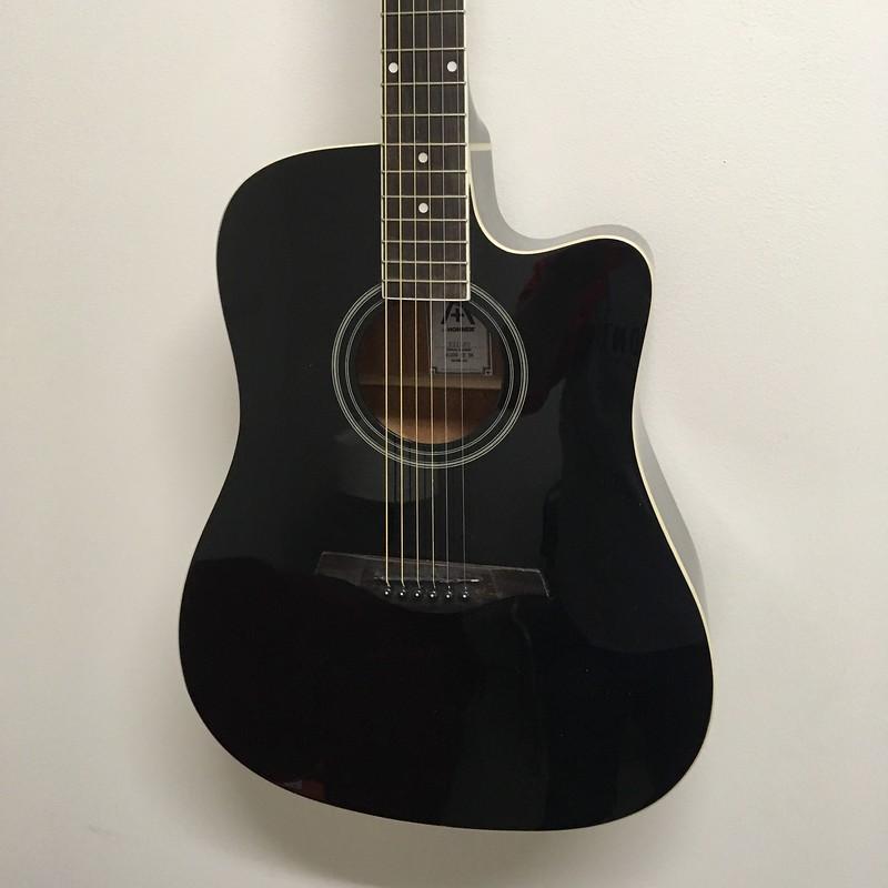 Hohner A+ Dreadnought Guitar Cutaway A/E Black