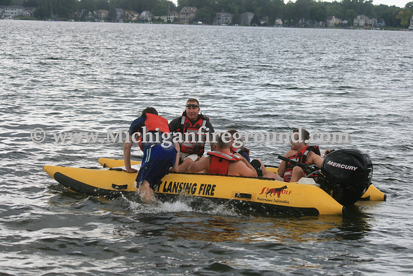 8/1/13 - Meridian Twp water rescue training, Lake Lansing Park North