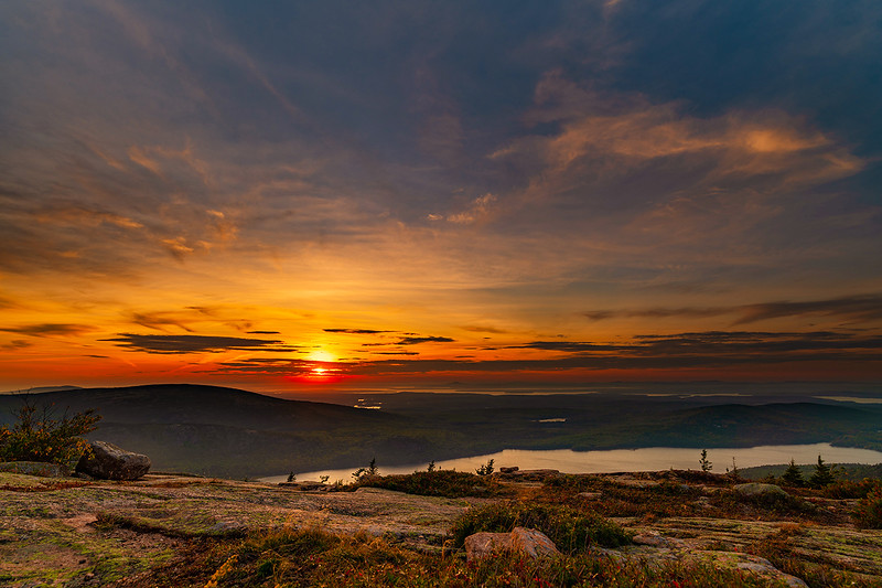 """Sunsets are proof that no matter what happens, every day can end beautifully."" - Kristen Butler<br /> <br /> Cadillac Mountain - Acadia National Park"