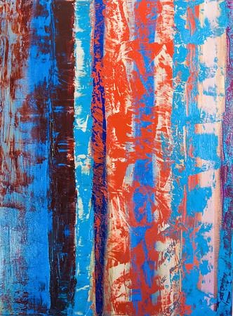 """Striations III"" acrylic on canvas 18"" x 24"""
