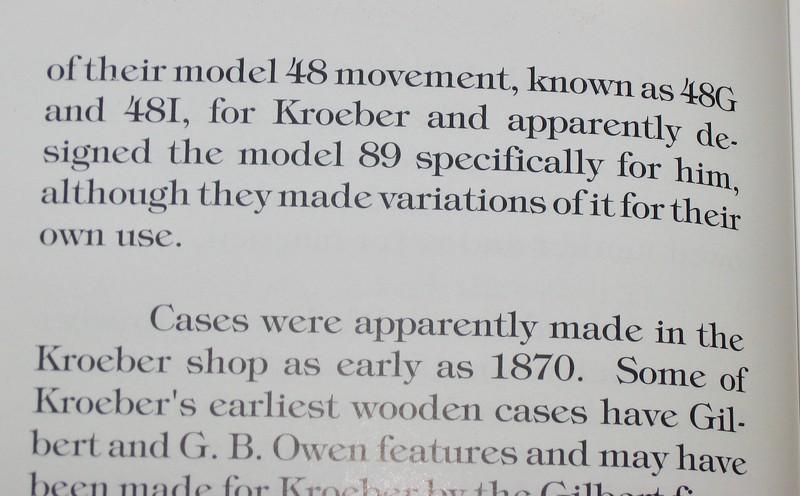 Discusion of Seth Thomas movement 89 designed for Kroeber.