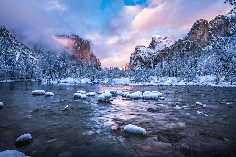 Yosemite Winter Symphony: Yosemite National Park Fine Art Landscape Nature Photography