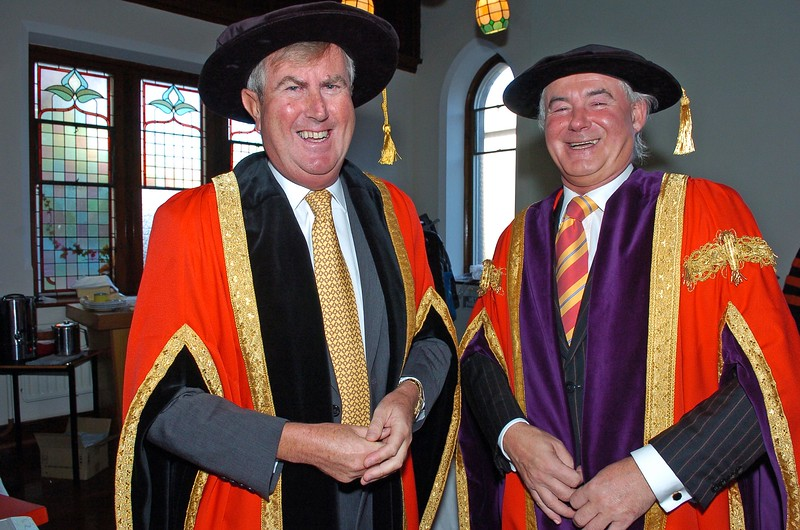 Provision 261006Chairman Redmond O'Donoghue and Prof. Kieran Byrne (Director of WIT) pictured before WIT's graduation ceremonies on Thursday 26th October.PIC Bernie Keating/Provision