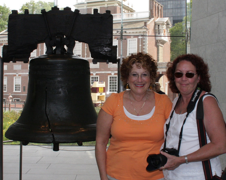Carole and I with the Liberty Bell!  Photo by Judy from Australia