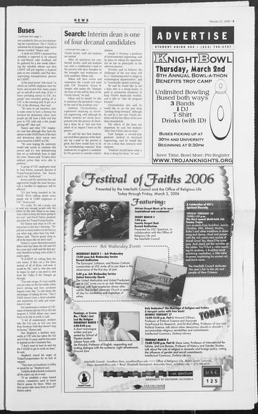 Daily Trojan, Vol. 157, No. 31, February 27, 2006