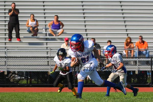 2017-9-24 Little Warrior Football vs Timberlane