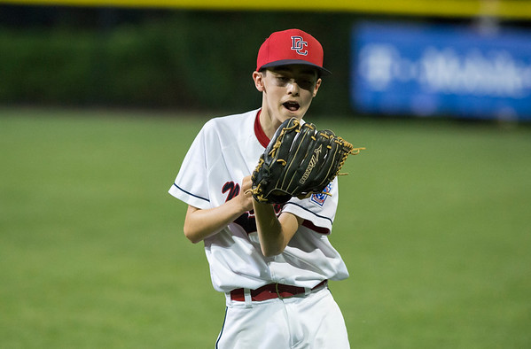 08/09/19 Wesley Bunnell | Staff New Jersey defeated Washington, DC on Friday August 9, 2019 in a Little League Baseball Eastern Regional Tournament game with New Jersey heading to the final on Saturday to face New York. Patrick Morelli (22) with a catch.
