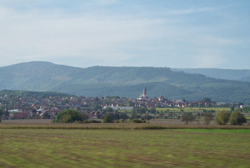 12 hour drive to Florence through France Alsace region