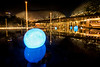 The Blue Light Balls at the Opera, Singapore