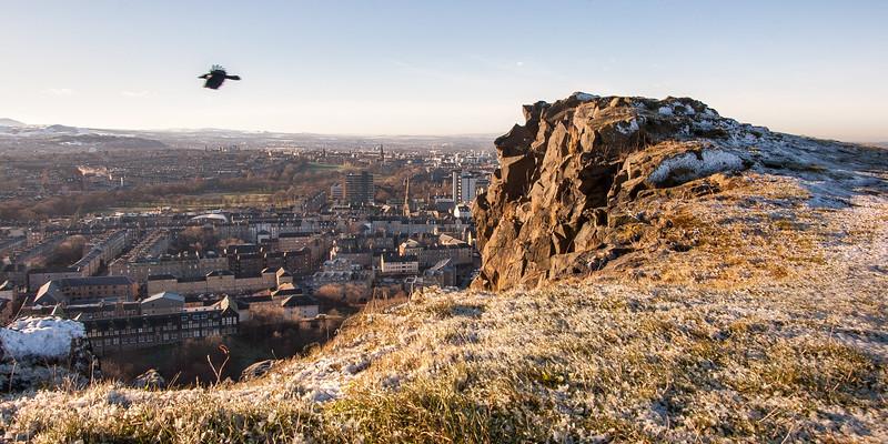 Edinburgh from Salisburyg Crags