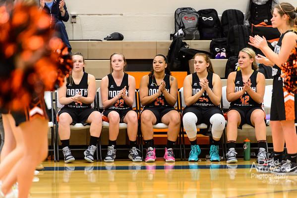 NDHS Lady Knight Basketball vs Lexingtion 2015