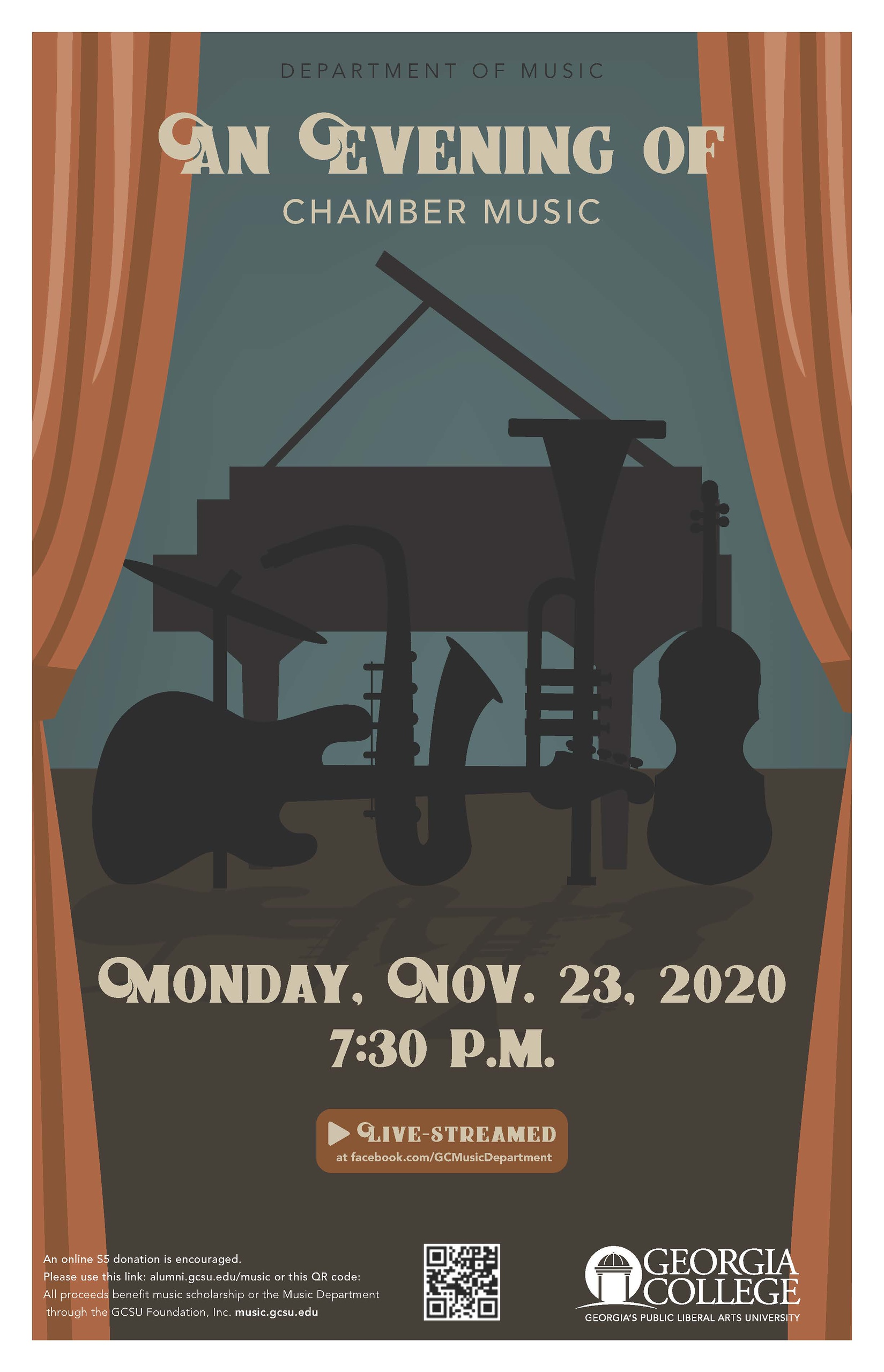 Please join us Monday, Nov. 23, 7:30 pm for this concert.