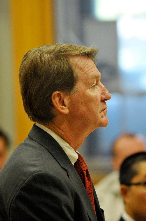 . District Attorney  David Capeless was on hand as David Casey is arraigned in Berkshire District Court in Pittsfield on charges to being an accessory after the fact in the recent triple murders.  Mon Sept 18, 2011 (GARVER)