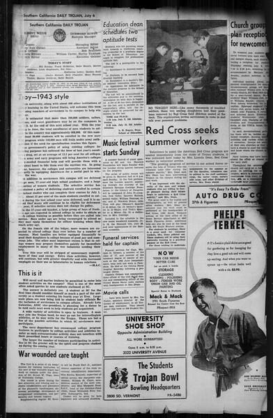 Southern California Trojan, Vol. 35, No. 1, July 06, 1943