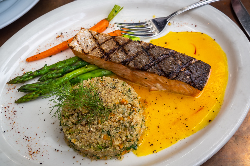 April 27 - Salmon, quinoa, asparagus and carrots.jpg