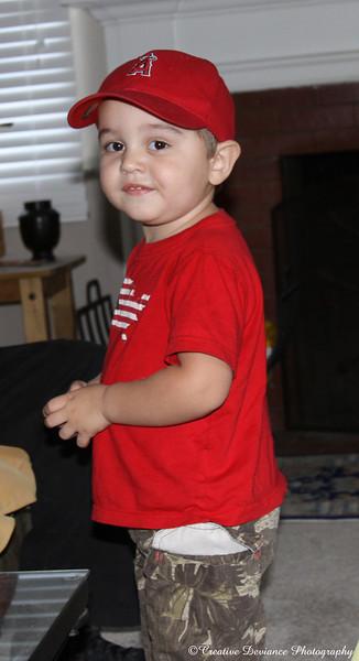 November 8, 2009  Oliver at Grandpa's house. He's getting too big too fast.