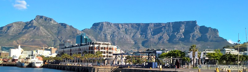 Cape Town is dominated by Table Mountain.