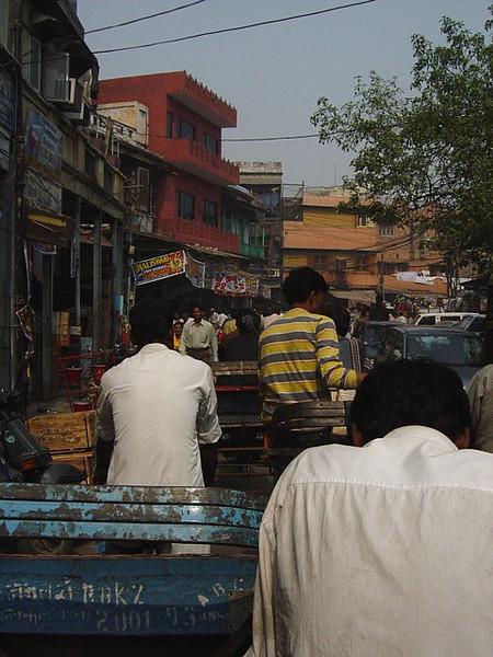 in traffic, Delhi