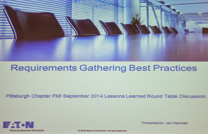 2014-09-03 PMI Lessons Learned Meeting
