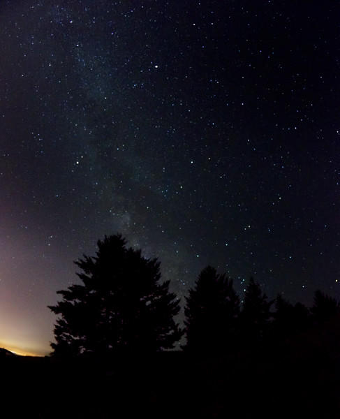 Night sky over Mt. Tam. 