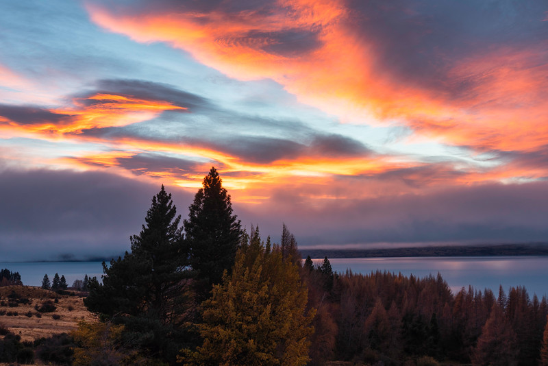 Dawn Light Over Lake Pukaki