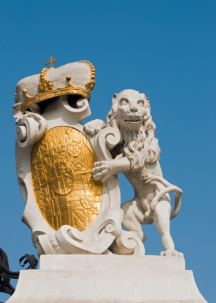 Lion with Coat of Arms, Belvedere Palace, Vienna, Austria