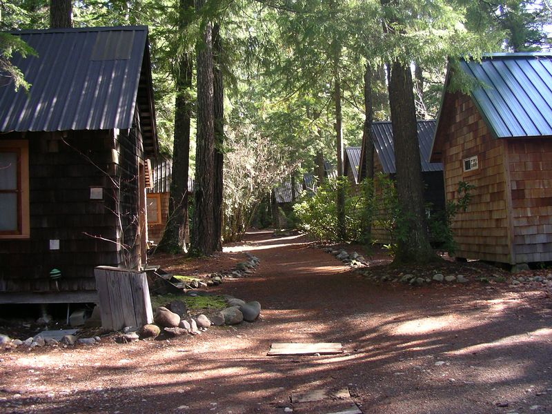 Julie and I stopped at Breitenbush to soak in the hot springs, and eat a sumptuous lunch before heading home. These are the cabins you can stay in overnight. It is very cute here ~ gotta go back someday.