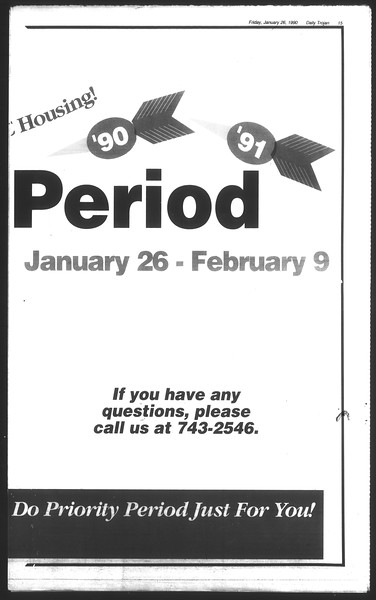 Daily Trojan, Vol. 111, No. 11, January 26, 1990