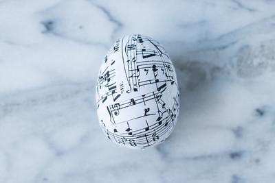 DIY Sheet Music Easter Eggs