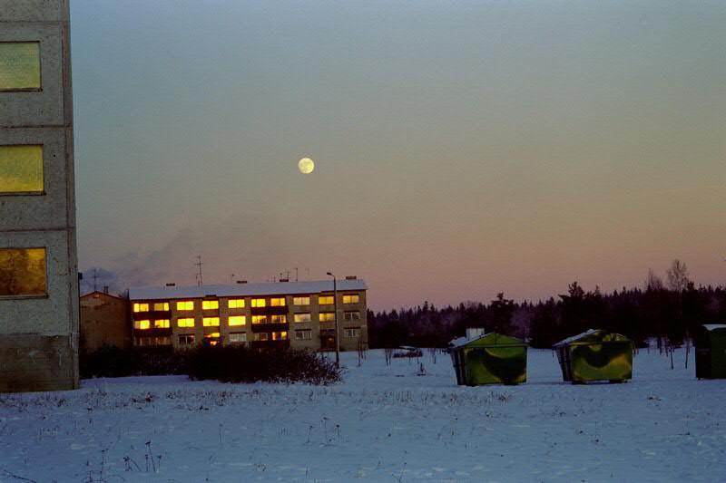 Sunset over Orgita's Blocks - Estonia
