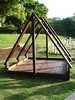 open plan timber tent cubby
