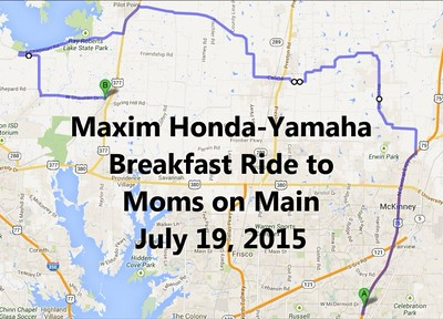2015 7/19 Maxim Honda Yamaha Ride to Mom's on Main