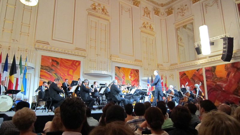 Treated to a small concert while in Vienna.