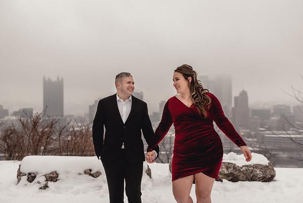 Amanda + Paul Glam Winter Engagement