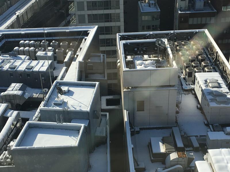 Snow on rooftops of Akiba