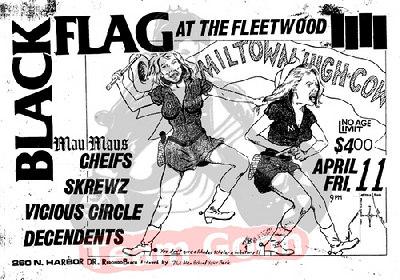 Black Flag - Mau Maus - The Chiefs - The Skrewz - Vicious Circle - Decendents