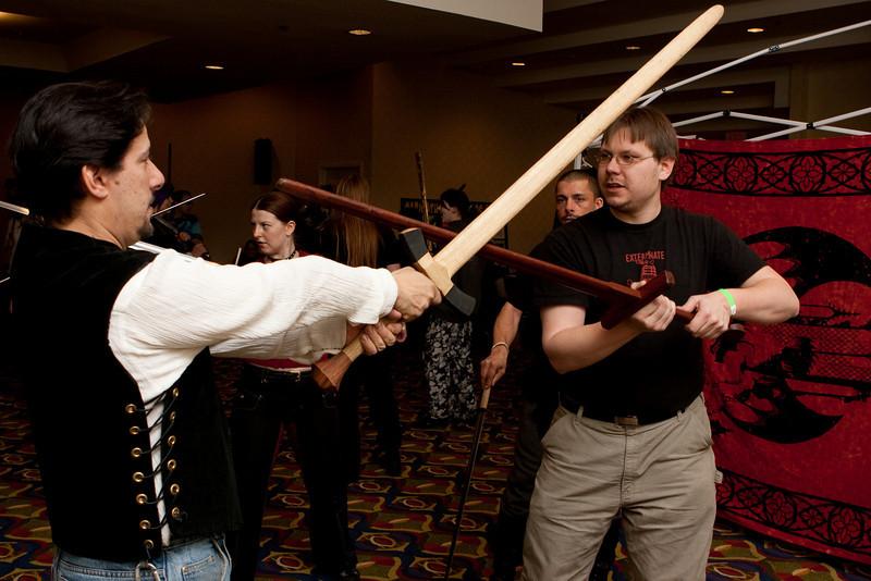 A swordplay intro.