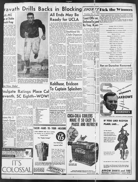 Daily Trojan, Vol. 39, No. 43, November 13, 1947