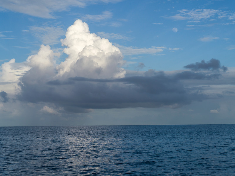 Clouds over the Caribbean Sea, Belize