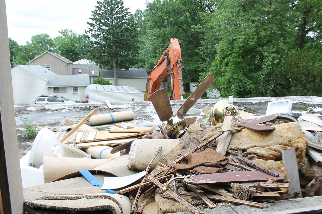 . Demolition begins on the rectory at Saint Mary Magdalene\'s in Willowick on June 11. Kristi Garabrandt - The News-Herald