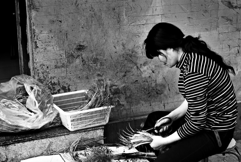 Preparing Vegetables Beijing, China — April 2010
