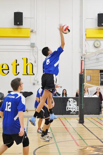 Sr Boys Volleyball Fr Lacombe Lasers vs Queen Elizabeth Knights