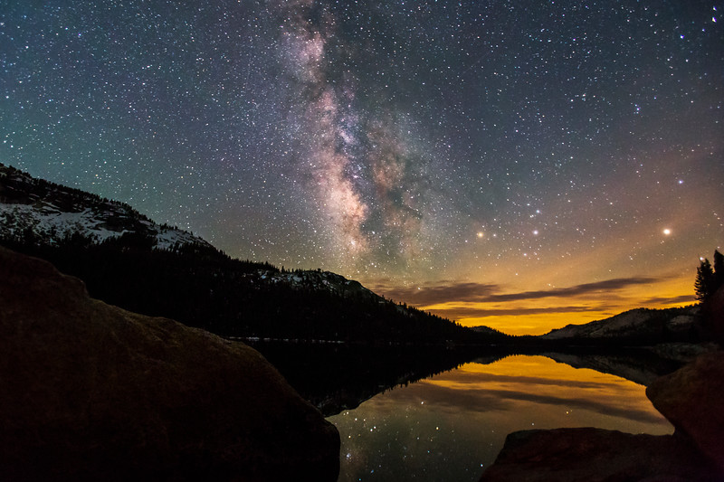 Milky Way over Tanaya Lake