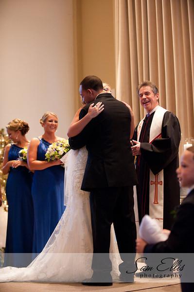 Whitney and Josh prep and ceremony
