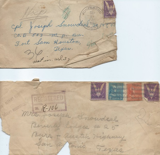 Misc Envelopes found giving a Duty Station Timeline